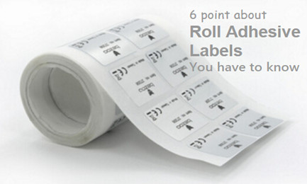 sticker labels in roll
