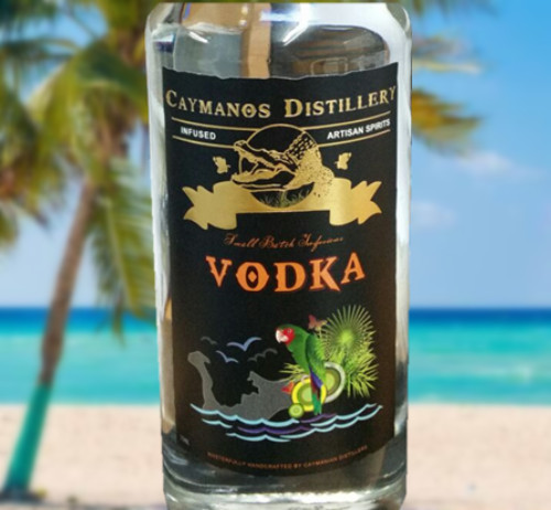 black adhesive label for vodka