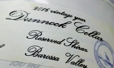 adhesive wine labels with UV