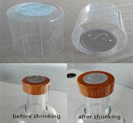 clear shrink capsule with silver top