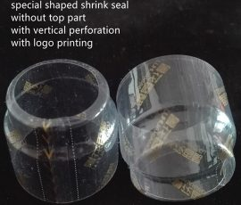 special shaped shrink caps
