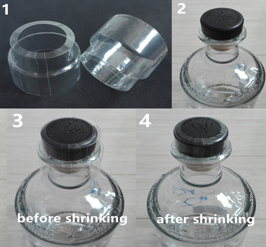 shrink band for gin bottle