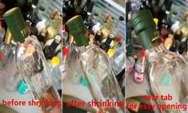 shrink capsule for olive oil bottle