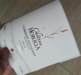 custom wine label in white