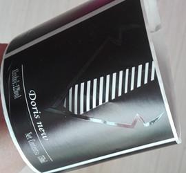 black wine label