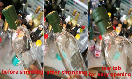 shrink capsule for olive oil bottle